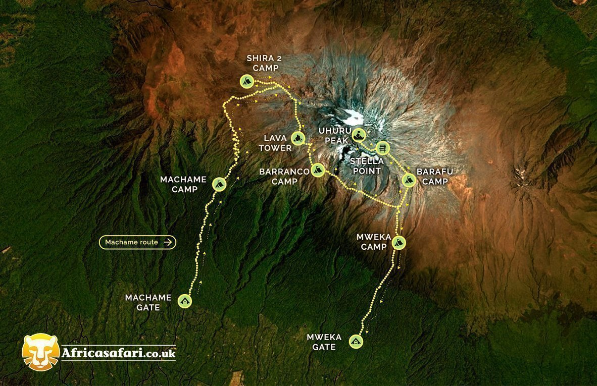 map of machame route