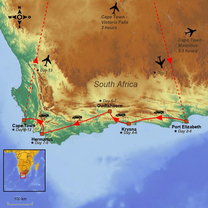 Garden route south africa see 13 day self drive tour itinerary here - Cape town to port elizabeth itinerary ...