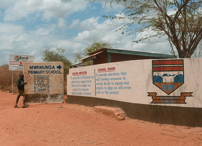 Entrance to Mwamunga Primary School