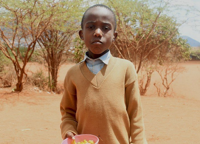 Boy from Mwamunga Primary School